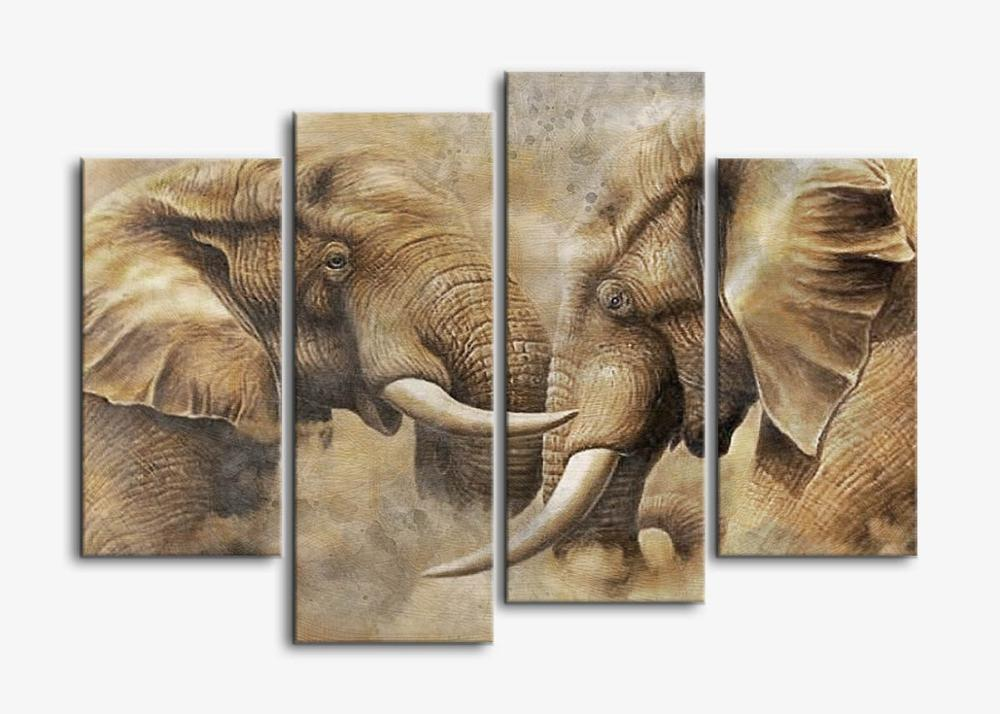 canvas wall art painting prints on canvas 4 panels large vintage